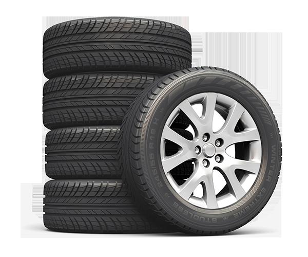 Distributeur de pneus d'hiver et pneus d'été